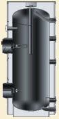 álló indirekt tároló tisztítónyílással, AT F 200