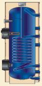 álló indirekt tároló egy hőcserélővel, BSR 250