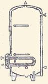 indirekt tároló 1 réz hőcserélővel, 750 litertől