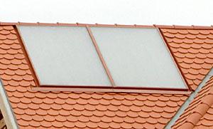 tetőtbe süllyesztett napkollektor